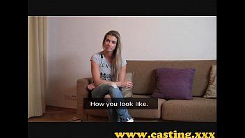 Casting - built chick cums for real