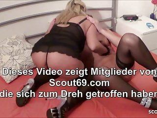 German step son caught mama lesbo and join in ffm three-some