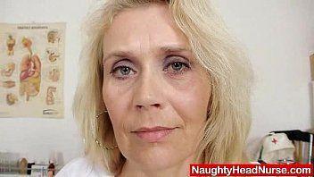 Blond curvicious aged nurse