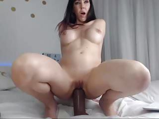 Aged cam-slut large toy in butt