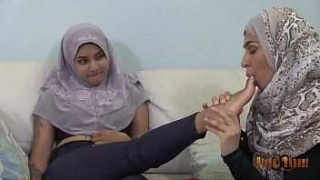 Lascivious desi hijabis having lesbo joy