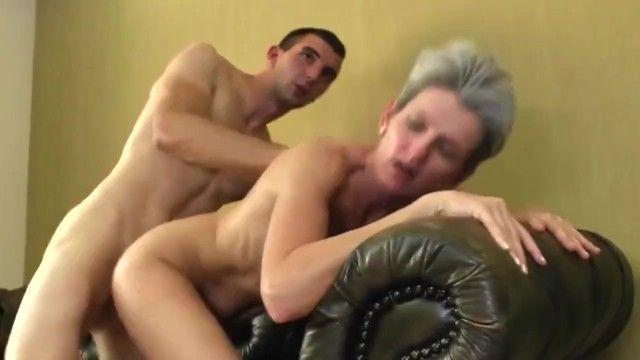 Aged slender mama engulf and fuck juvenile boyz 10-pounder