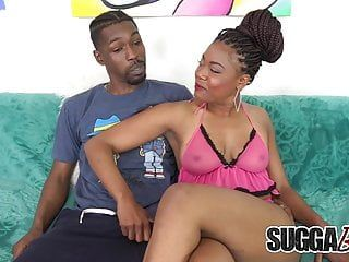 Hawt dark lacy layy receives naked, sucks cock, receives screwed