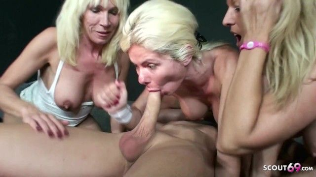 3 german mamma fuck stranger at party in swingerclub