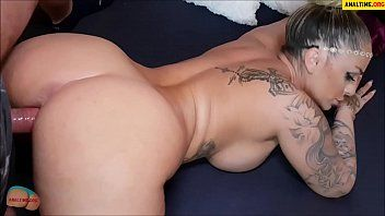 Non-professional pov with tattooed breasty milf