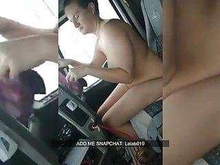 Milf pumping old stud in truck