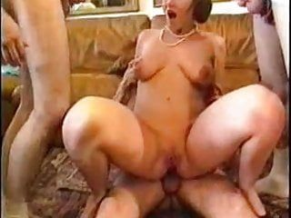 Wonderful french milf group sex