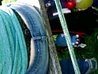 Candid milf lace belt