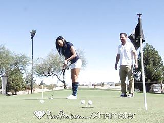 Puremature golf teacher fuck with breasty aged audrey bitoni