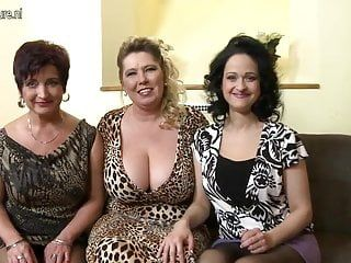 3 large breasted mammas banging and engulfing in pov style