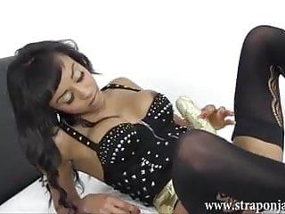 Milf lezdom bonks breasty honey lewd soaked fur pie with large ding-dong