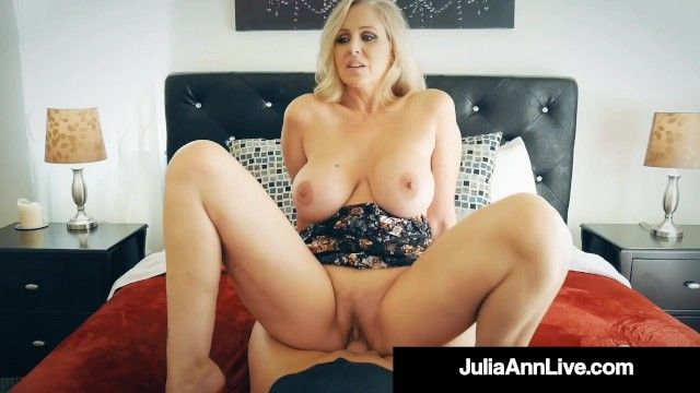 Breasty blond cougar julia ann group-fucked by nervous hard dong fan
