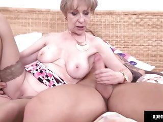 Old milf pumping with his mechanic boy